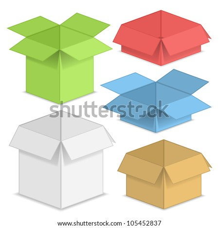 Paper boxes, vector eps10 illustration