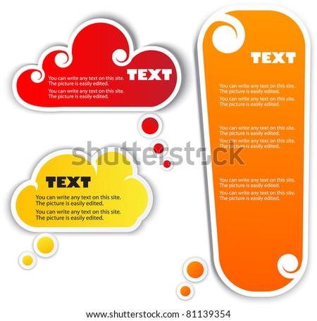 Paper bubble for speech