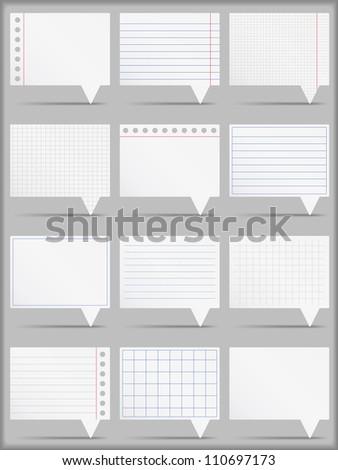 Paper cards, vector eps10 illustration