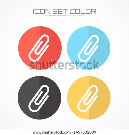 Paper clip icon in trendy flat style isolated on grey background. Paper clip icon page symbol for your web site design Paper clip icon logo, app, UI. Paper clip icon Vector illustration, EPS10.