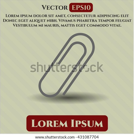 paper clip icon vector symbol flat eps jpg app web concept