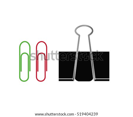 Paper Clip. Isolated icons on white background