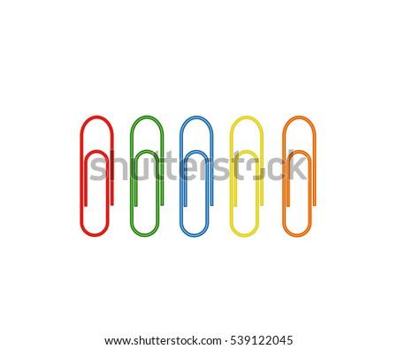 Paper Clip Multi Colored