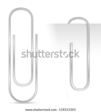 Paper clip, vector eps10 illustration - stock vector