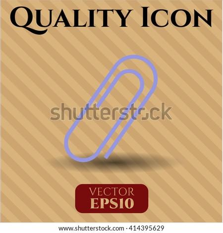 Paper Clip vector symbol