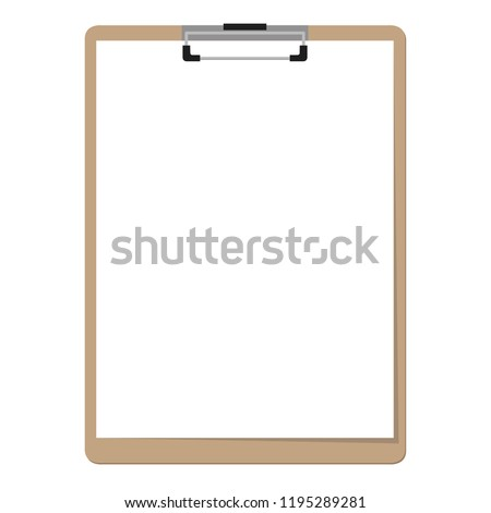paper clipboard border vector. free space for text.