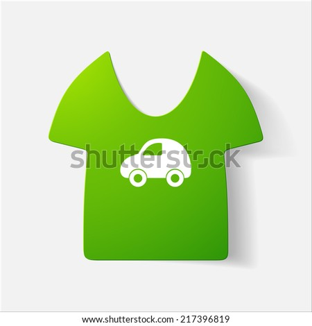 Paper Clipped Sticker Children 39 S T Shirt Isolated
