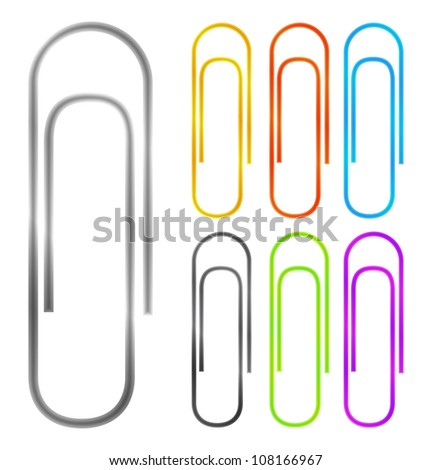 Paper clips, vector eps10 illustration