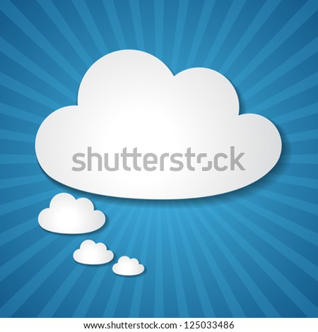 Paper clouds background.