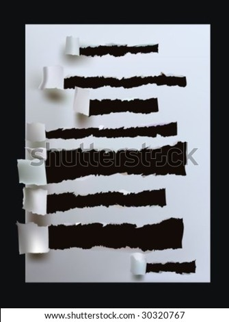paper collection Ripped text boxes