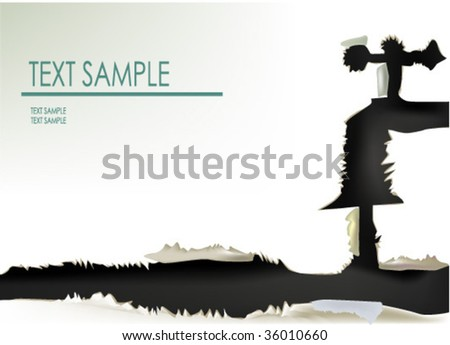 paper collection SAVE WATER banner - stock vector