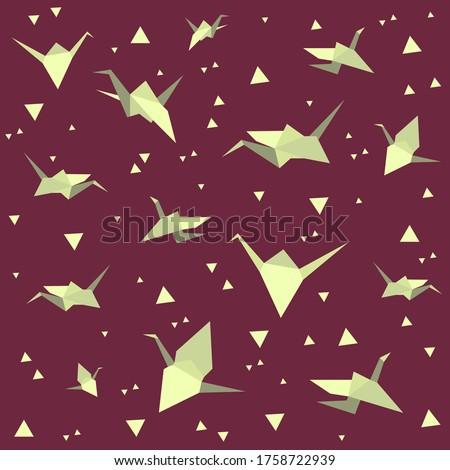 paper cranes background