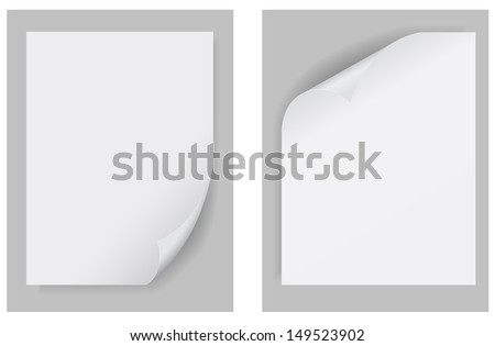 paper curled up template