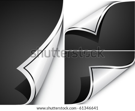 Paper curls. Vector