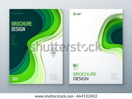 paper cut brochure design