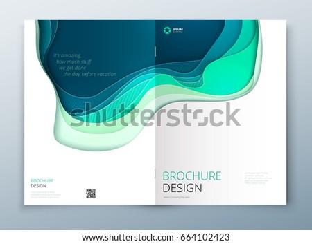 paper cut brochure design