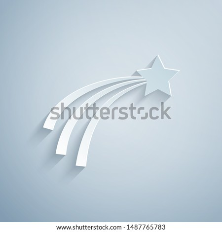 paper cut falling star icon