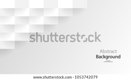 Paper cut Gray color and white color and black color background abstract art vector