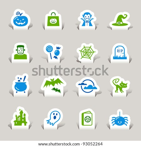 Paper Cut - Halloween Icons