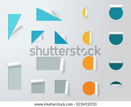 Paper Cut Out Labels Pealed Back Template 2