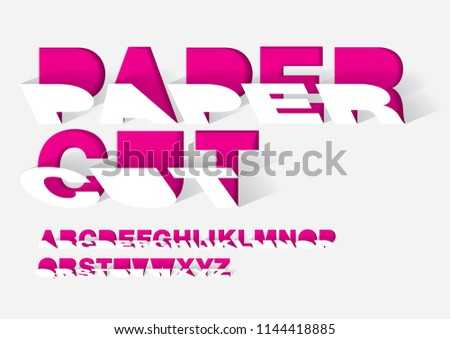 paper cut paper typography design graphic design vector