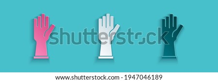 paper cut rubber gloves icon