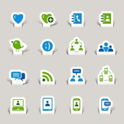Paper cut - Social media icons
