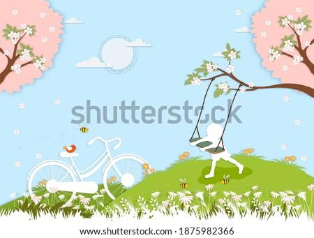 paper cut spring village