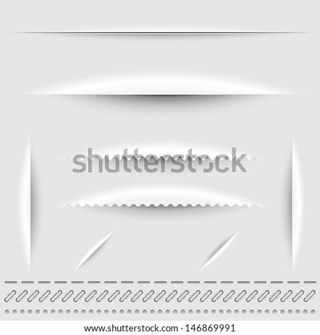 paper cut  stitch and