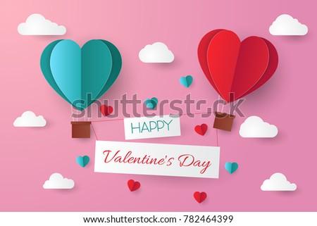 paper cut valentine background