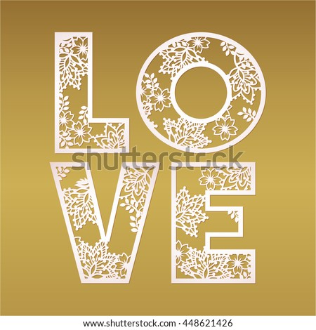 paper cutout love design over