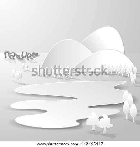 paper 3d nature background