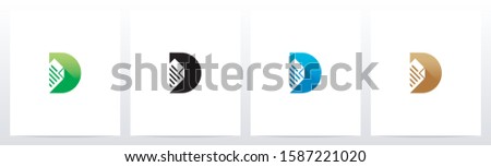 Paper Document On Letter Logo Design D Zdjęcia stock ©