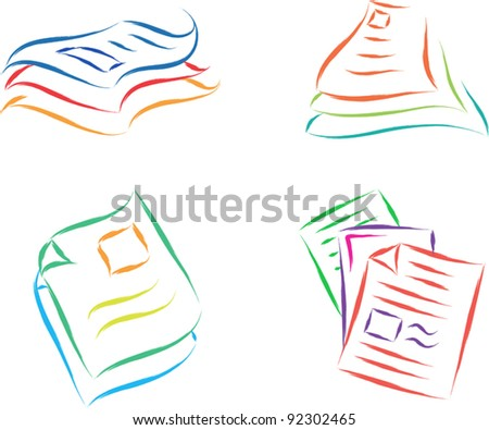 paper documents sketch