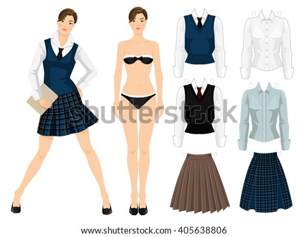 paper doll isolated on white
