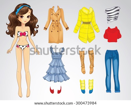paper doll of a young cute girl