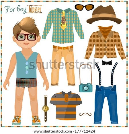 paper doll with a set of