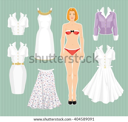 cute girl paper doll download free vector art stock graphics images