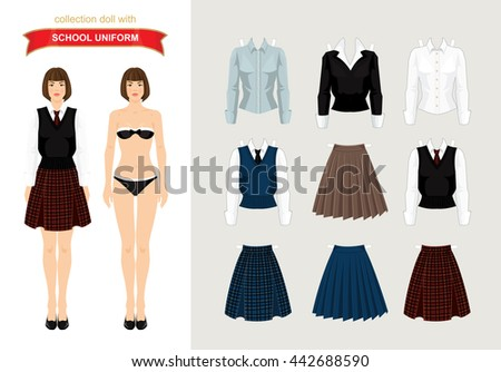 paper doll with formal clothes