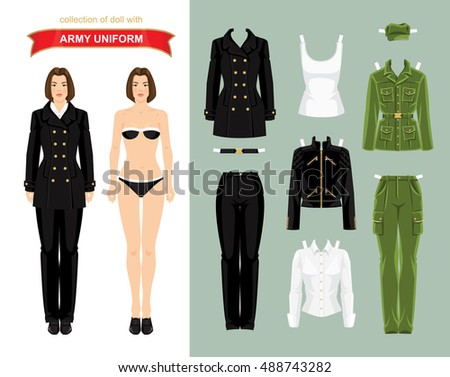 paper doll with military