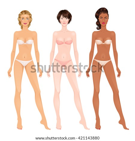 Royalty free beautiful young woman body template for Paper doll template woman