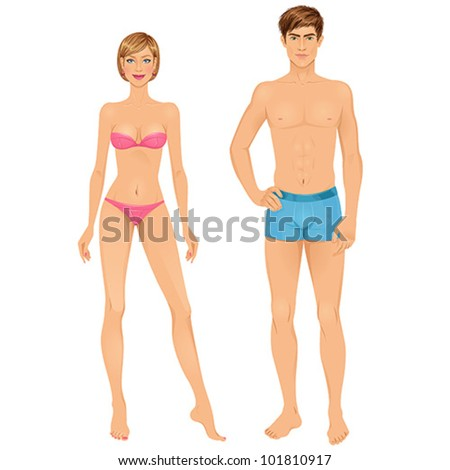 paper dolls  young woman and