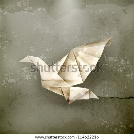 paper dove  old style vector