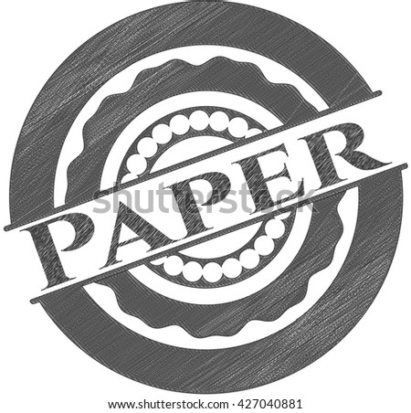 Paper draw with pencil effect