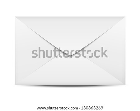 Paper envelope isolated on white