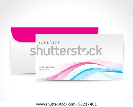 Paper envelope isolated on white background, vector illustration.