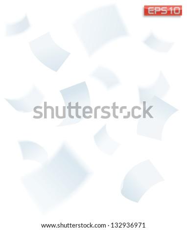paper falling down, vector illustration
