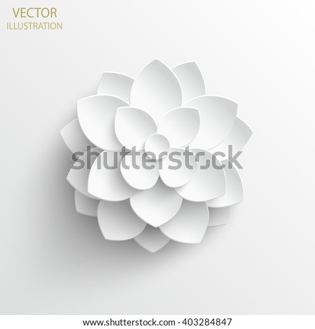Paper flower. Background. Vector illustration #403284847