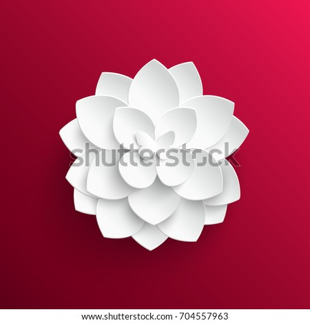 paper flower lotus cut from
