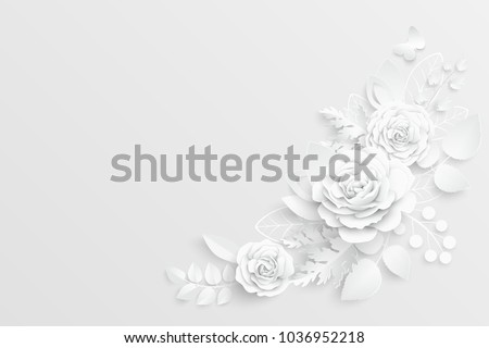 Blank Paper With Flowers In Background Download Free Vector Art